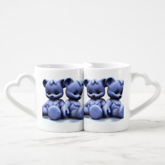 Plushie Blue Bears Coffee Mug Set