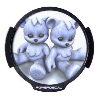 Plushie Blue Bears LED Car Decal