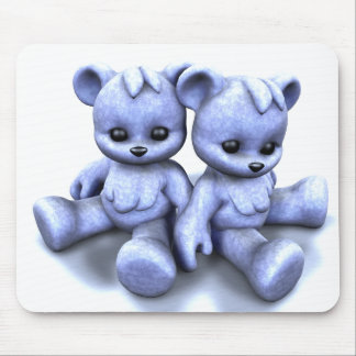 Plushie Blue Bears Mousepad