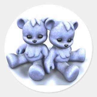 Plushie Blue Bears Sticker