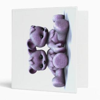 Plushie Pink Bears Binder