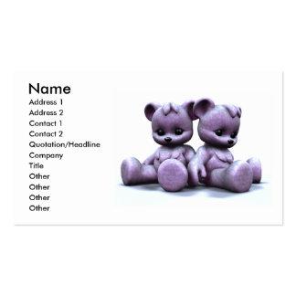 Plushie Pink Bears Business Card