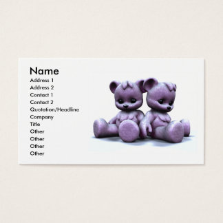 Plushie Pink Bears Business Card