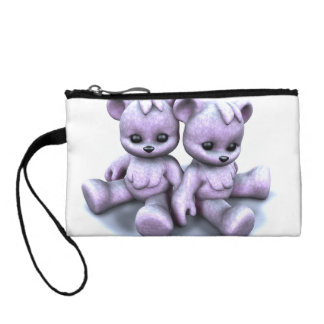 Plushie Purple Bears Coin Wallet