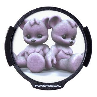Plushie Purple Bears LED Window Decal