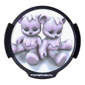 Plushie Purple Bears LED Car Decal