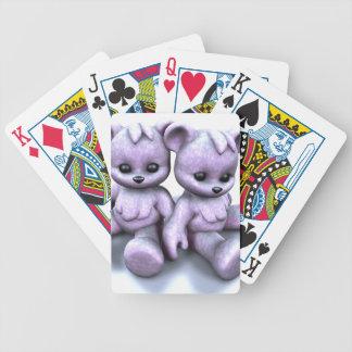 Plushie Purple Bears Poker Deck