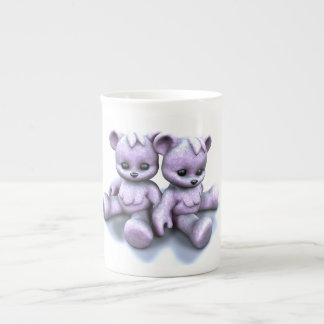 Plushie Purple Bears Tea Cup