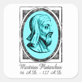 Plutarch Pegatina Cuadrada