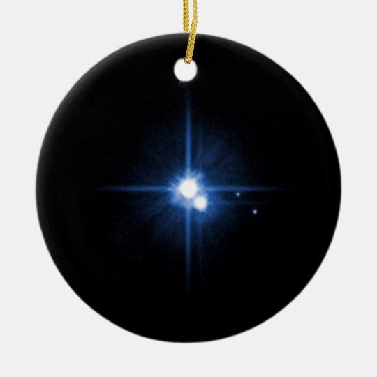 Pluto and Charon Ceramic Ornament