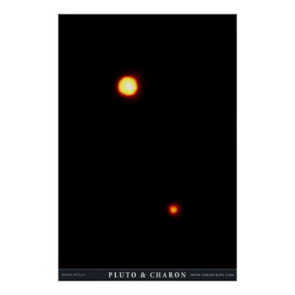 Pluto and Charon Posters