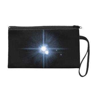 Pluto and Its Moons- Charon, Nix, and Hydra- Unlab Wristlet Purse