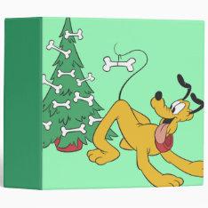 Pluto at Christmas 3 Ring Binder at Zazzle