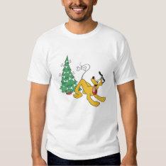 Pluto at Christmas Disney Tee Shirt at Zazzle
