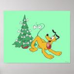 Pluto at Christmas Print