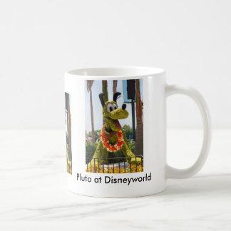 Pluto at Disneyworld Classic White Coffee Mug