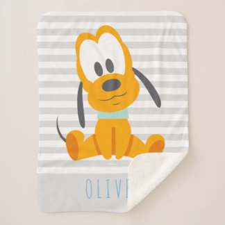 Pluto | Baby Pluto - Add Your Name Sherpa Blanket