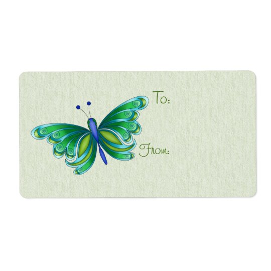 Pluto Butterfly Gift Tag Labels
