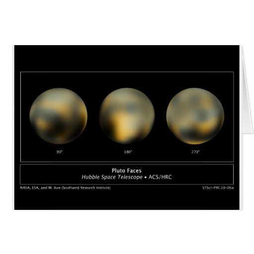 Pluto by NASA's Hubble Space Telescope Greeting Card