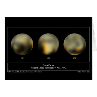 Pluto by NASA's Hubble Space Telescope Card
