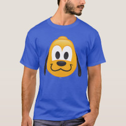 Men's Basic Dark T-Shirt with Pluto design