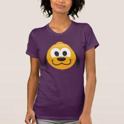 Women's American Apparel Fine Jersey Short Sleeve T-Shirt with Pluto design