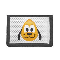 TriFold Nylon Wallet with Pluto design