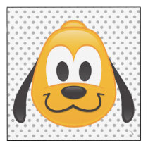 Pluto Emoji Wood Print