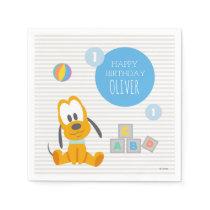Pluto | First Birthday Napkin