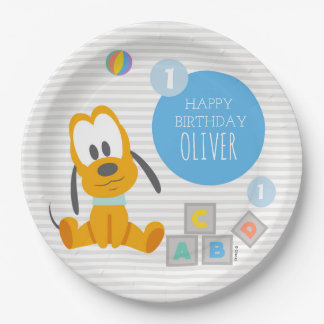 Pluto | First Birthday Paper Plate