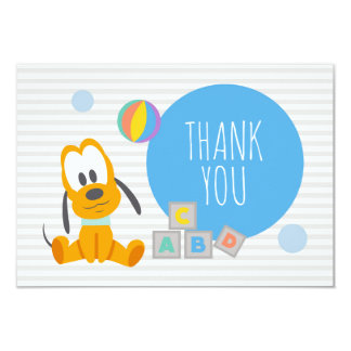 Pluto | First Birthday Thank You Card