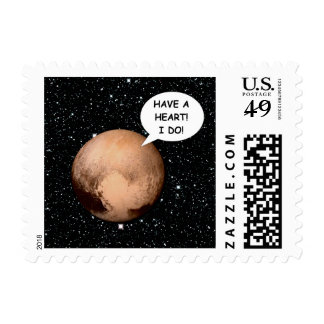 PLUTO FOR PLANETHOOD HAVE A HEART! POSTAGE