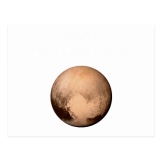 PLUTO FOR PLANETHOOD - JOIN THE CAMPAIGN! (space) Postcard
