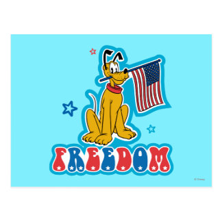 Pluto | Freedom with Flag Postcard