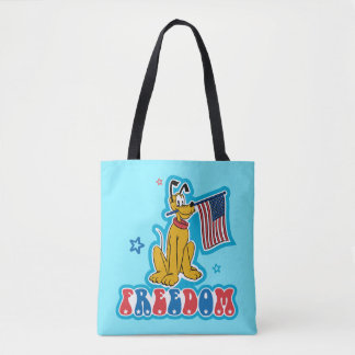 Pluto   Freedom with Flag Tote Bag
