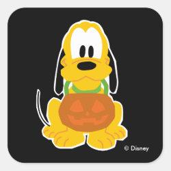 Square Sticker with Pluto design