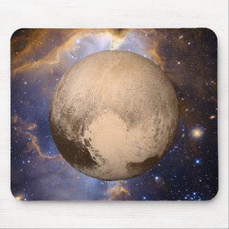 Pluto Heart Galaxy Nebula and Stars Mouse Pad
