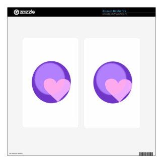 Pluto Heart Kindle Fire Skin