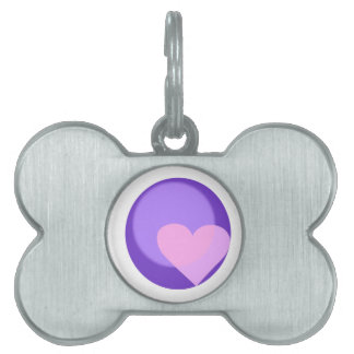 Pluto Heart Pet Name Tag