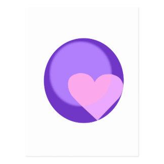 Pluto Heart Postcard