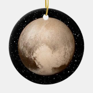 Pluto Heart-View Ceramic Ornament