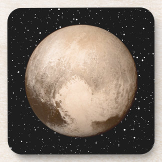 Pluto Heart-View Drink Coaster