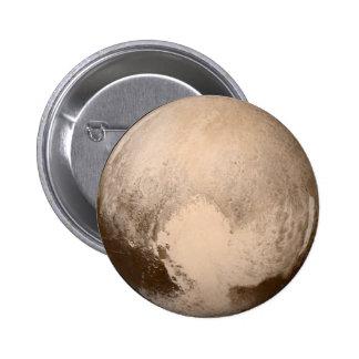 Pluto Heart-View Pinback Button