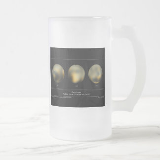 Pluto imaged by the Hubble Space Telescope Frosted Glass Beer Mug