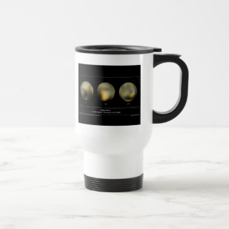 Pluto imaged by the Hubble Space Telescope 15 Oz Stainless Steel Travel Mug