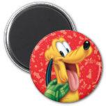 Pluto in Scarf Fridge Magnet