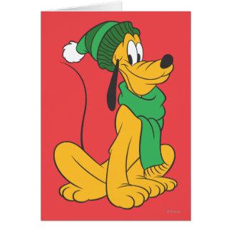 Pluto In Winter Gear Card