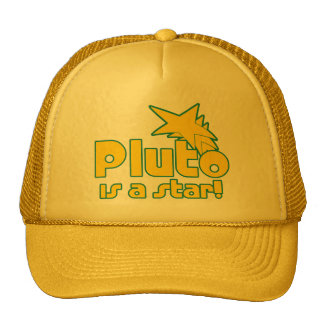 Pluto is a Star Mesh Hat