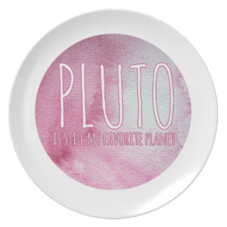 Pluto is still my favorite planet dinner plate