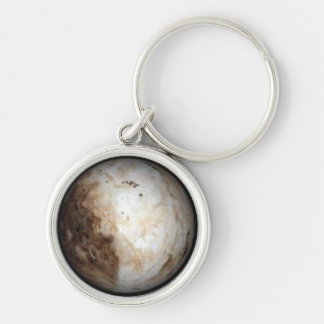 Pluto Keychain Silver-Colored Round Keychain